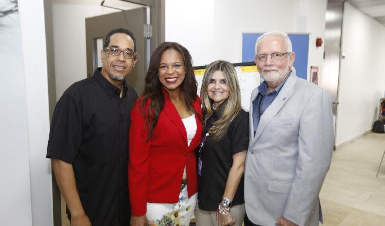 1. Danilo Pérez, Raiza Banfield, Irene Perurena y Jorge Arosemena.