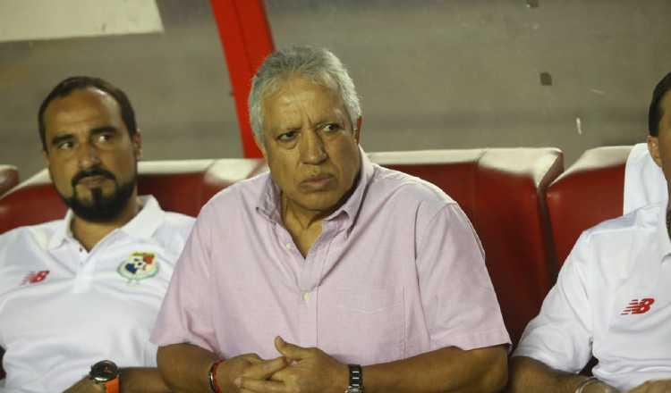 Américo Gallego durante el partido de Panamá ante Bermudas. Foto Anayansi Gamez