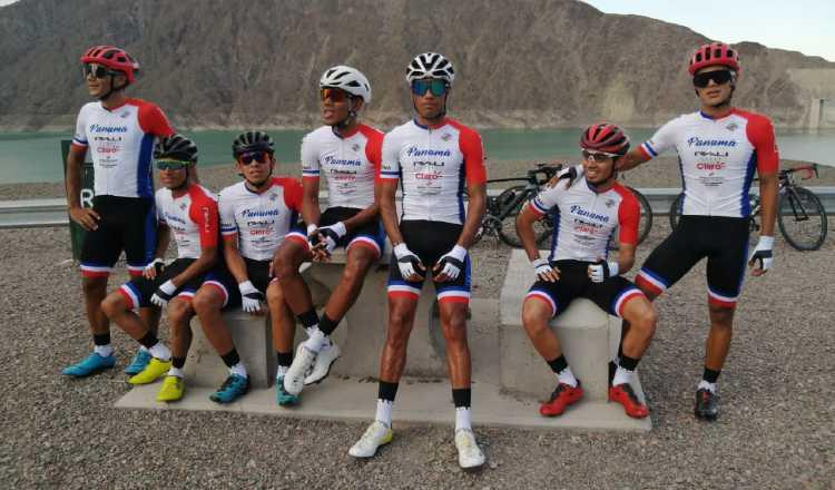 Integrantes del equipo panameño previo al inicio de la vuelta. Cortesía