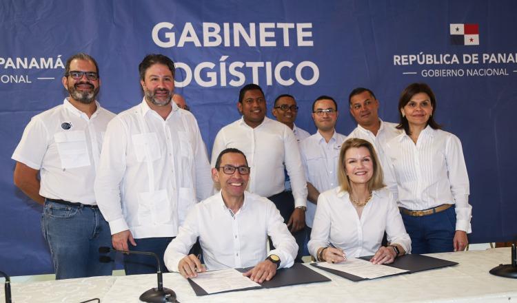 La firma del acuerdo se realizó durante el último Gabinete Logístico. Cortesía