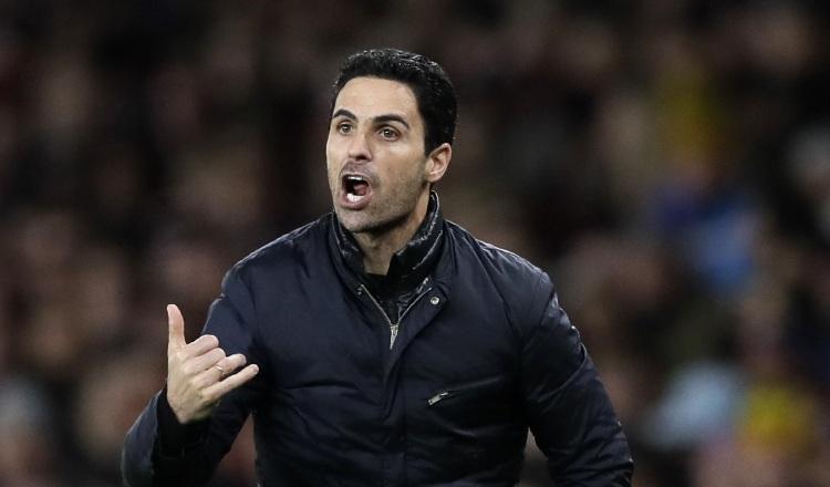 Mikel Arteta, entrenador del Arsenal. Foto:AP