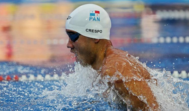 El nadador panameño Edgar Crespo. Foto:EFE