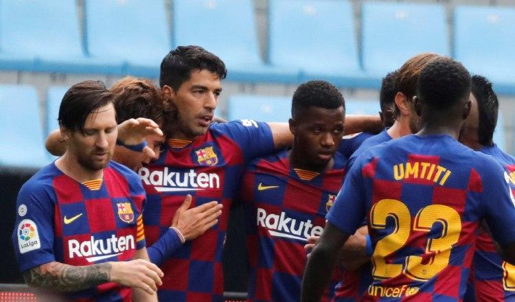 El Barcelona, apunta a la Champions, único título que le queda por conseguir en la temporada. Foto:EFE