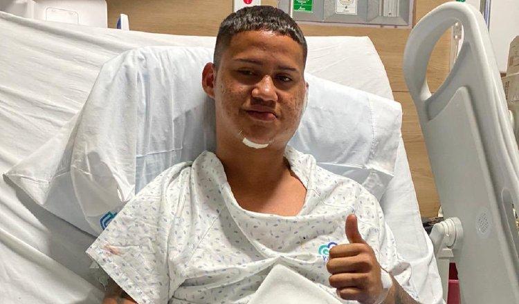 Erick Vásquez del Sporting se lesionó ante Plaza Amador Foto:@Sporting
