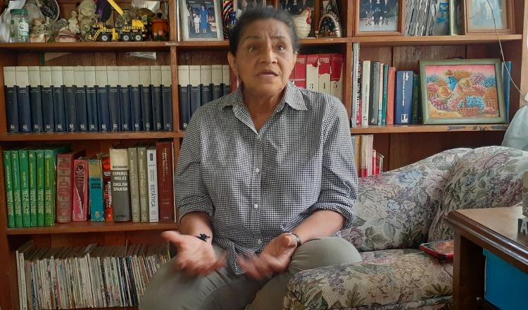 Damaris Rivera ha vivido varias tragedias provocadas por las inundaciones del río Chiriquí Viejo, en el sector de Bambito.