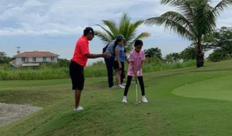 Infantes en el golf Kiwanis. Foto:Cortesía