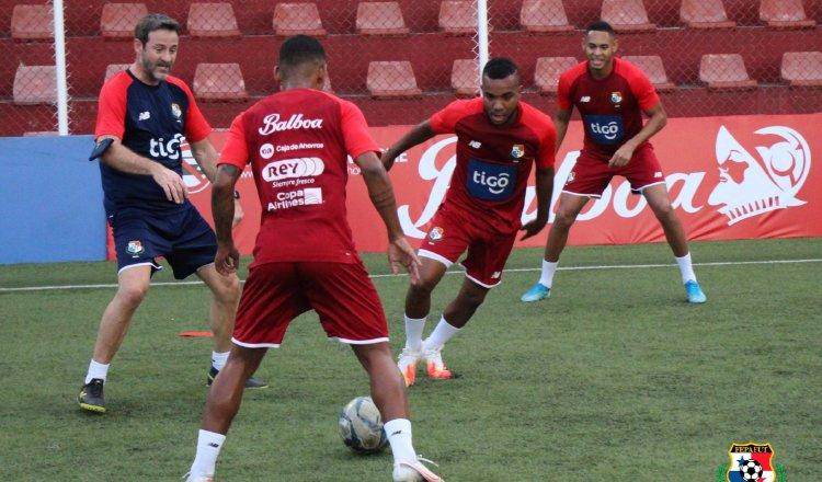 Selección de Panamá en los entrenamientos. Foto:Fepafut