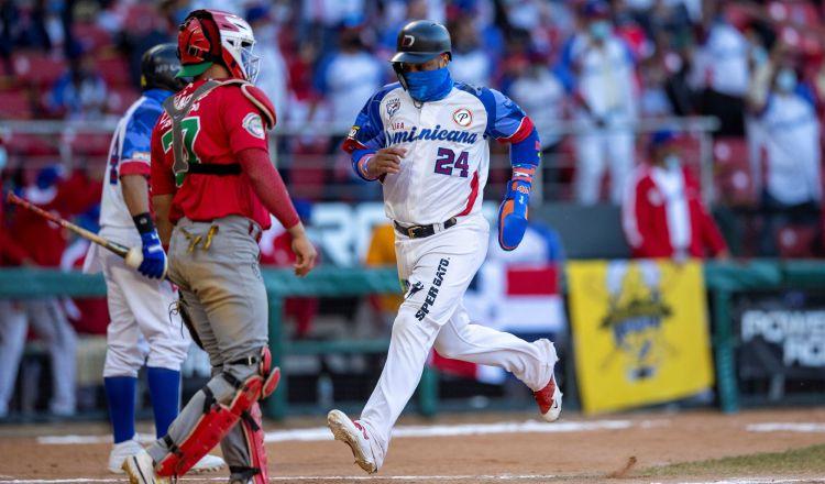 Robinson Canó anotó una carrera para República Dominicana. Foto:EFE