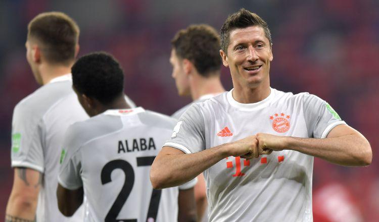 Robert Lewandowski es el referente en la delantera del Bayern. Foto:EFE