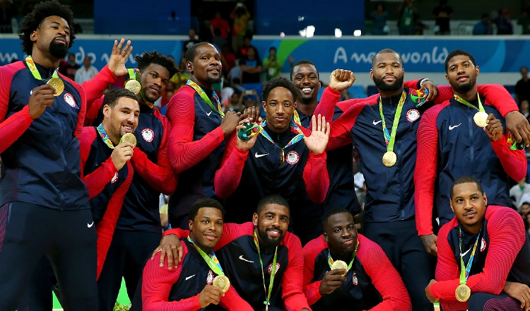 Equipo olímpico de Estados Unidos cuenta con un récord de 8 medallas de oro consecutivas Foto: USA Basketball