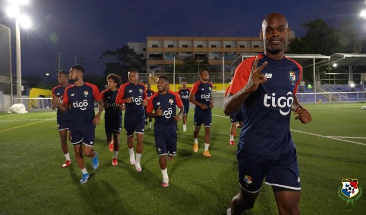 Jugadores de la selección de Panamá en los entrenamientos. Foto:Fepafut