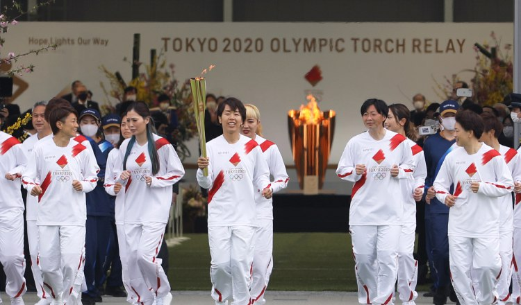 La llama olímpica ha hecho su recorrido por distintas regiones de Japón. Foto:EFE
