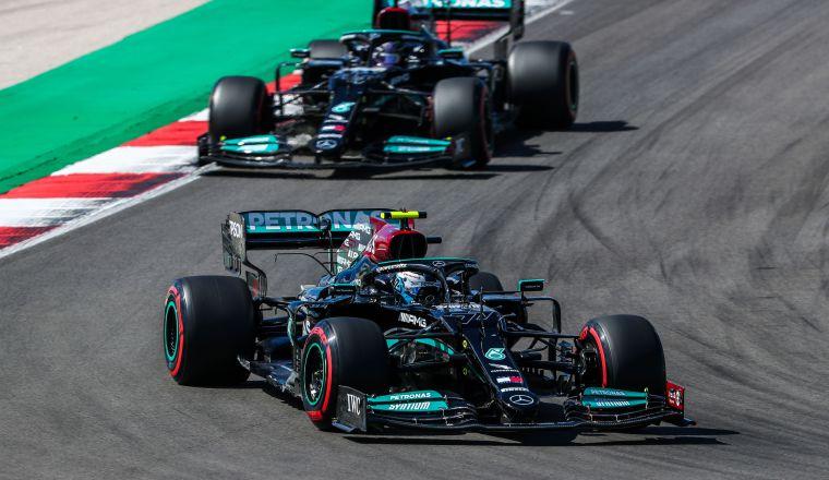 Valtteri Bottas en las carreras de pruebas realizadas en Portugal. Foto:EFE