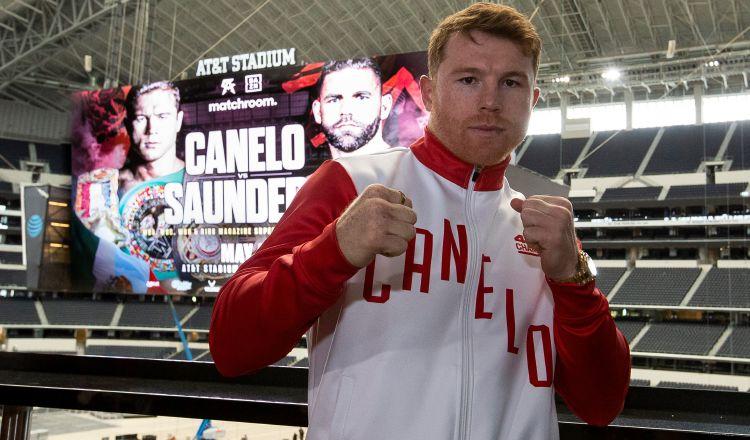 El mexicano Saúl 'Canelo' Álvarez. Foto:EFE