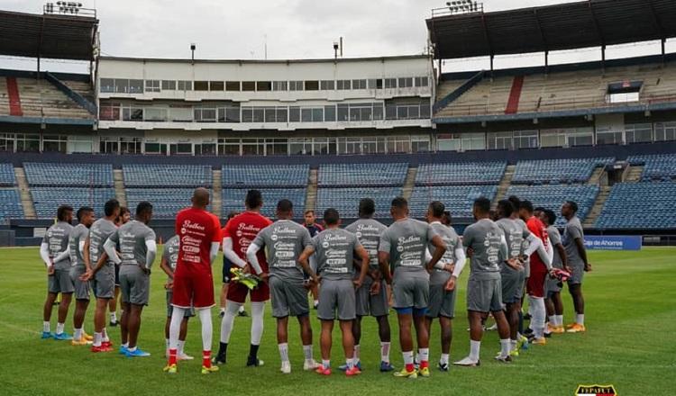 Jugadores del seleccioando panameño. Foto:Fepafut