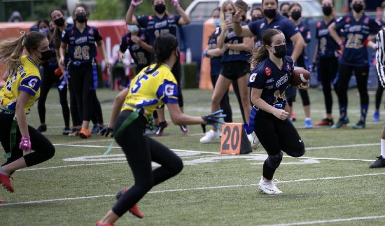 El torneo Flag Football Kiwanis se encuentra competitivo. Foto:Cortesía