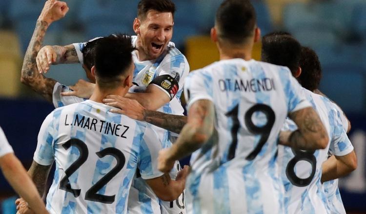 Jugadores de Argentina. Foto:EFE