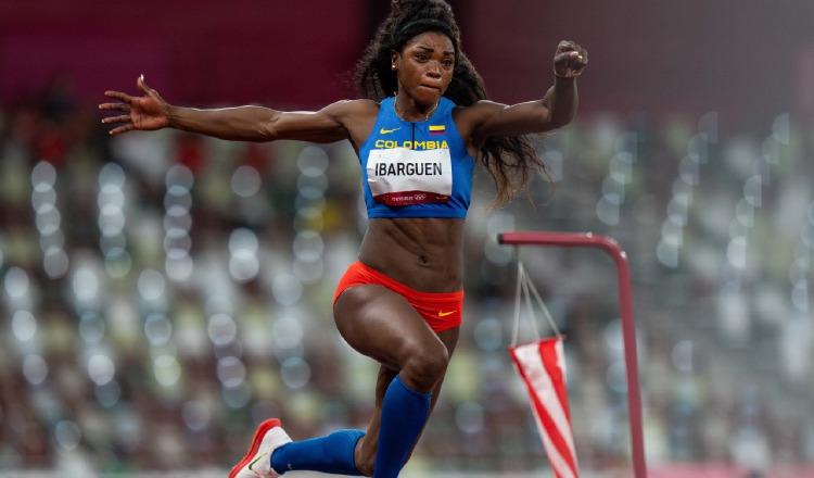 Caterine Ibargüen, saltadora colombiana. Foto:Twitter