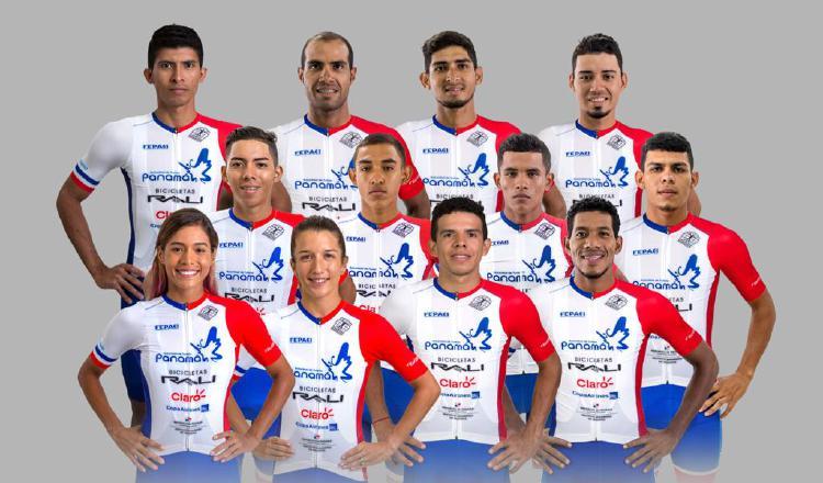 Representación de Panamá que estará en el Panamericano de Ciclismo de Ruta. Foto:@Fepaci