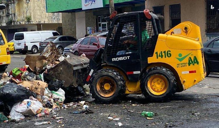 En la capital hay un problema con la recolección de la basura. Foto: Archivo