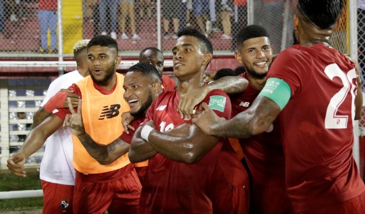 Jugadotres del equipo de Panamá. Foto:EFE