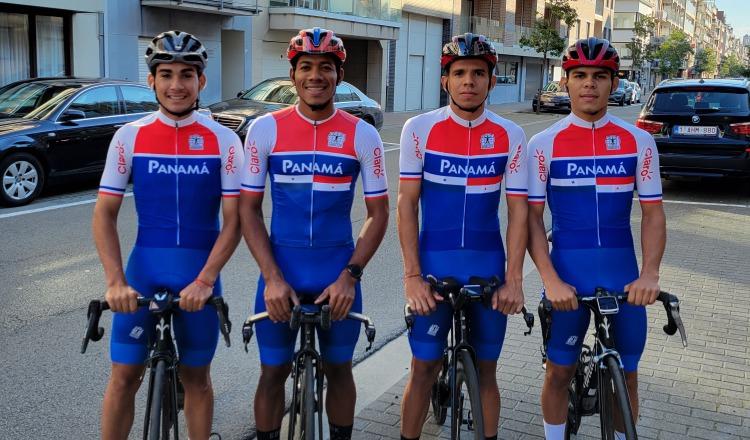 Los pedalistas panameños que estarán en el Mundial de Ciclismo en Bélgica. Foto:Fepaci