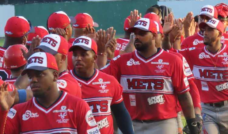 Metro festeja el triunfo contra Veraguas. Foto:Fedebeis