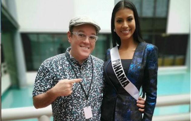 Alex Medela muestra respetos a Rosa Iveth Montezuma. Foto/Redes Sociales