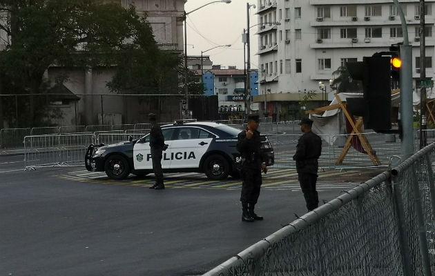Presidente Juan Carlos Varela ordena el cierre de vías de acceso a la Asamblea por temor a protestas. Foto: Cortesía.