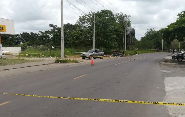 Camioneta BMW que transportaba tres muertos. Foto: Jorge Luis Barría.