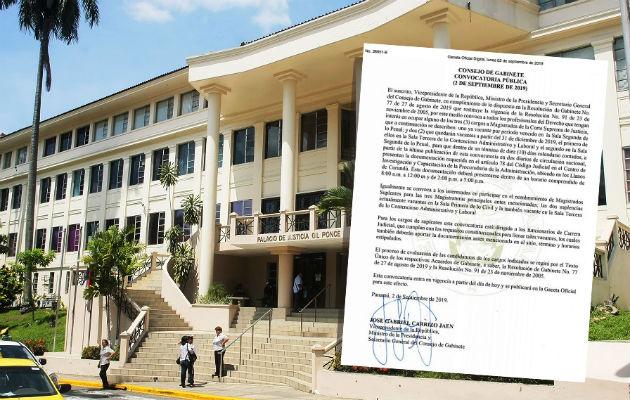 El actual gobierno deberá nombrar a tres magistrados de la Corte Suprema de Justicia y sus respectivos suplentes. Foto: Panamá América.