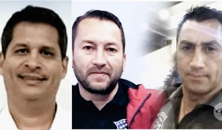 El nombre de Pedro Gordón (izq.) se mencionó en el documental. A lado, Fabián Benítez (c) y Mario Andrés López. Foto Captura