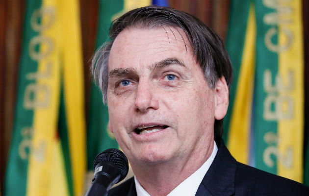 Jair Bolsonaro durante una presentación de un centro tecnológico universitario en Sao Paulo (Brasil). EFE.