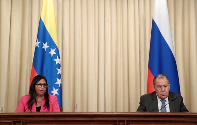 La vicepresidenta de Venezuela se reunió con el ministro de Exteriores ruso, Serguéi Lavrov, y con el presidente de la Duma o cámara de diputados ruso, Viacheslav Volodin. FOTO/EFE
