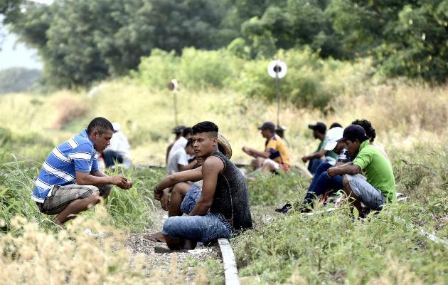 Mientras este gran grupo avanza, otro medio millar de hondureños esperan en la frontera entre Guatemala y México.