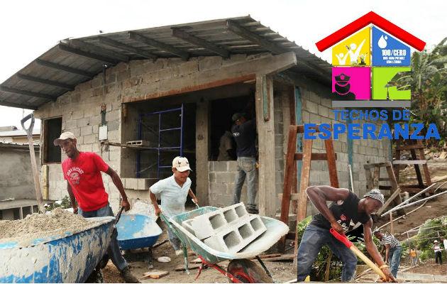 El programa Techos de Esperanza era uno de los planes sociales insigne del gobierno de Juan Carlos Varela.