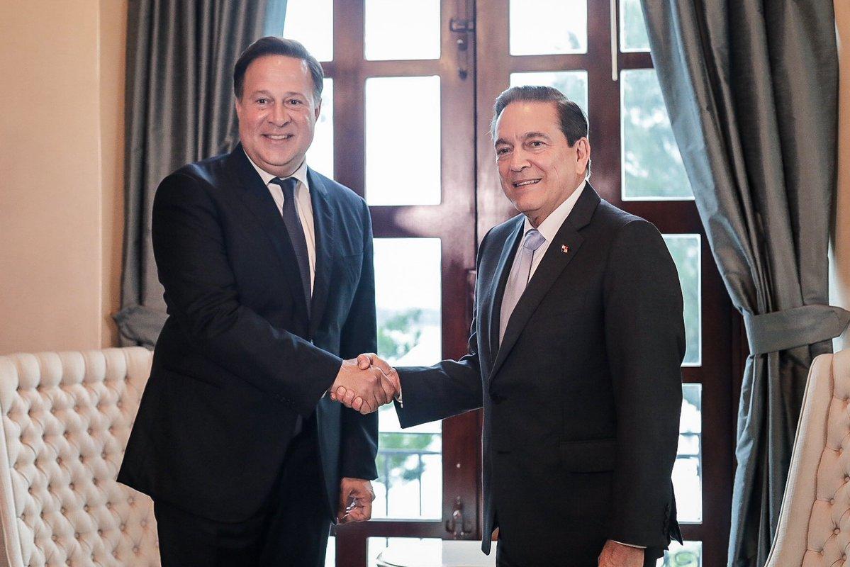 Juan Carlos Varela y Laurentino Cortizo se reúnen como parte de proceso de transición. Foto: Presidencia de la República.