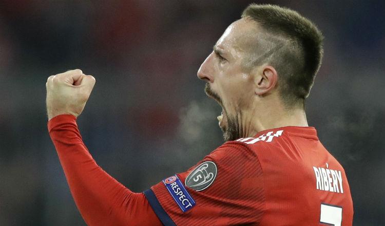 Franck Ribéry durante un entrenamiento del Bayern Munich. Foto AP
