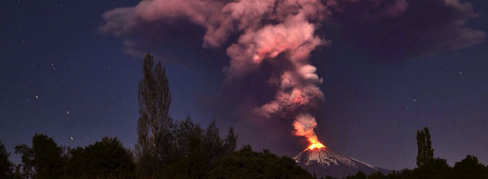 Erupción del volcán chileno Villarrica