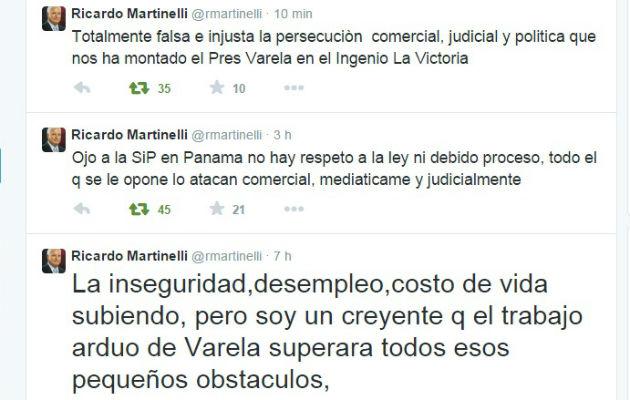 Martinelli alerta a la SIP y denuncia persecución política