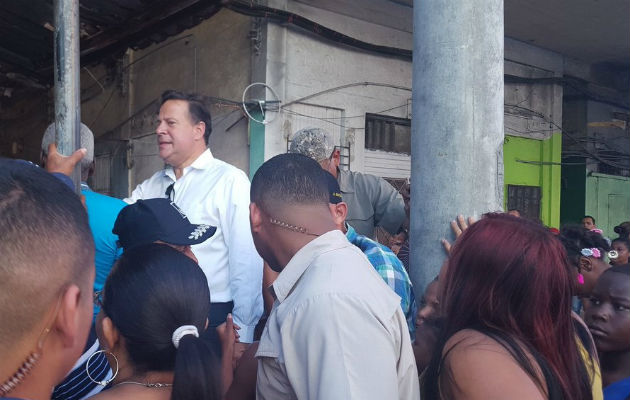 El mandatario hizo el anuncio desde Colón / Foto Delfia Cortez.