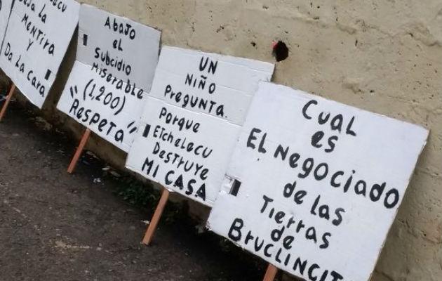 Moradores de Brooklincito se oponen a desalojos. Foto/Cortesía