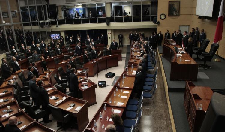 El pleno de la Asamblea no contó con la presencia de todos los invitados. /Foto: Víctor Arosemena