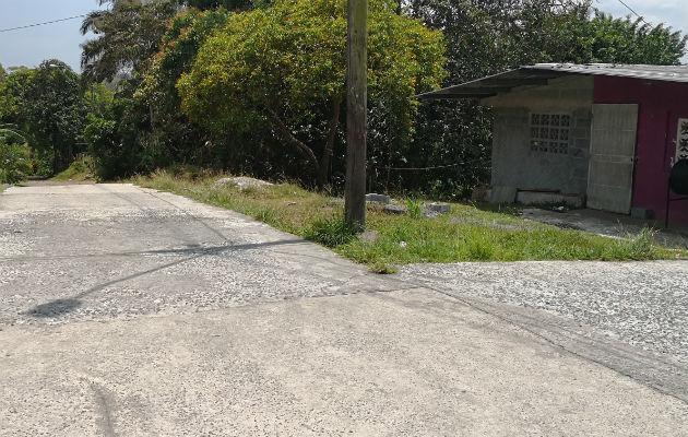 Lugar donde se dio el homicidio del joven.