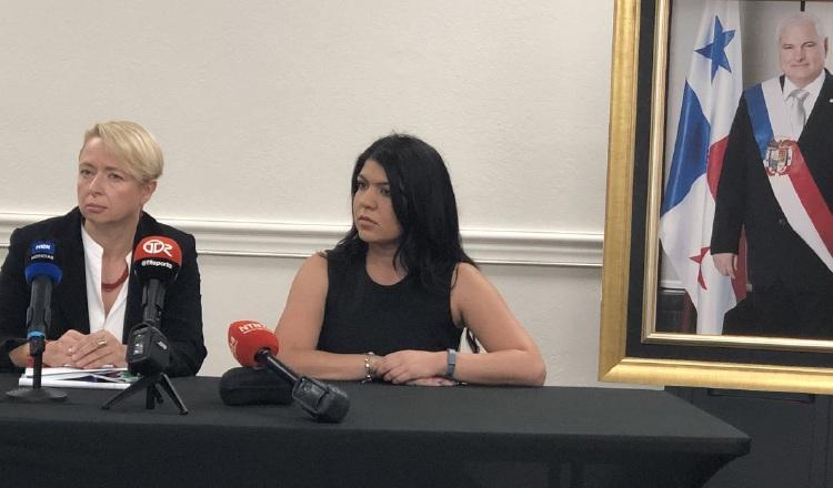 La abogada Inna Shapovalov (izquierda) fue presentada ayer como parte del equipo del equipo legal de Martinelli. Su colega Nathalie Santos fue confirmada como asesora. /Foto Cortesía