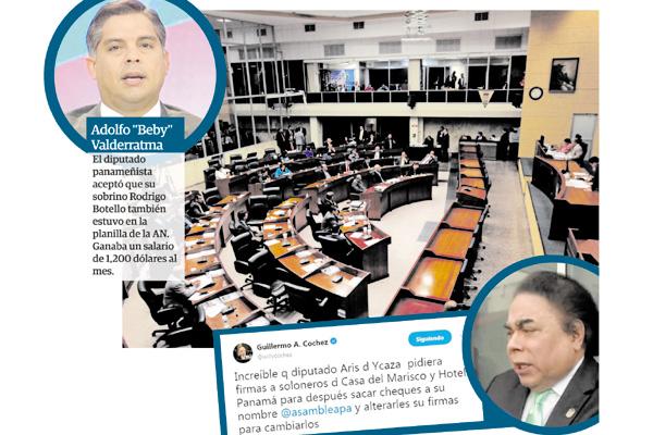 La Asamblea Nacional está siendo cuestionada por el mal manejo de recursos y nombramientos de allegados en planillas de ese órgano del Estado.