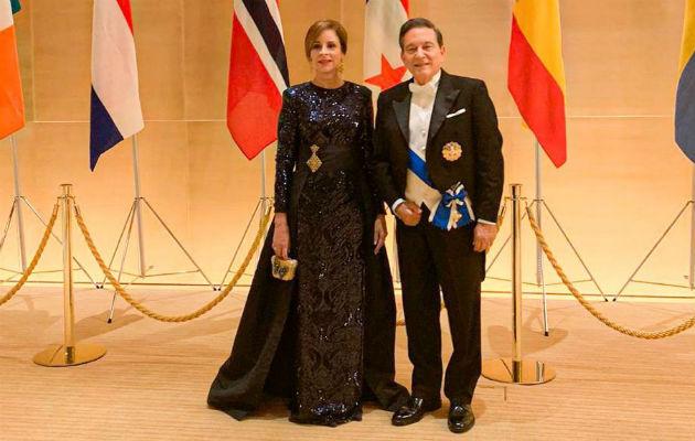 El emperador Naruhito y la emperatriz Masako atienden a los invitados en el Palacio Imperial de Tokio. Foto: EFE.