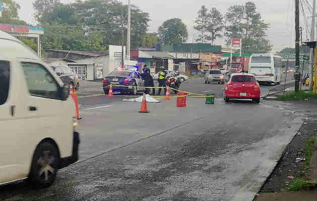 Conductor arrolló a un peatón y se dio a la fuga en Capira. Foto/Redes Sociales
