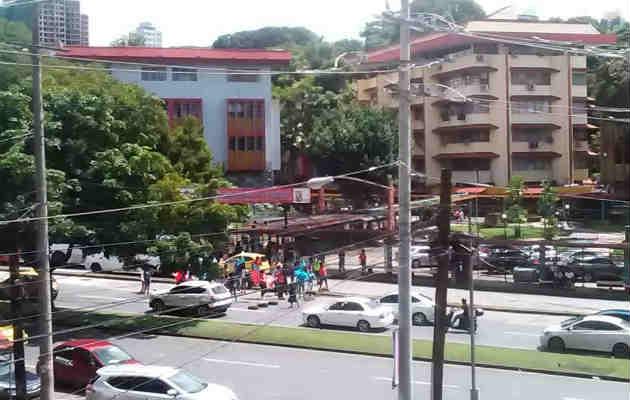 Protesta en la Universidad de Panamá. Foto/Tráfico C Panamá