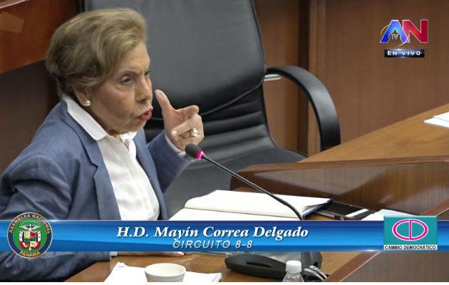 Mayín Correa aseguró que esa práctica va en detrimento de los clientes de la Lotería Nacional de Beneficencia y de la propia institución. Foto: Asamblea Nacional.